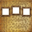 Three gold frames Victorian style — Foto de Stock