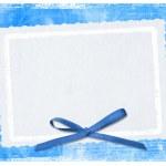 carte bleue pour les voeux au style rétro — Photo