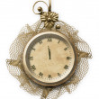 Antique clock face with lace — Stock Photo #2313669