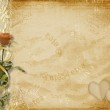 Card for invitation with rose — Stock Photo
