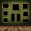 Old gold frames Victorian style - Foto Stock