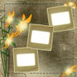 Royalty-Free Stock Photo: Frame for photo with flowers