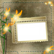 Frame for photo with flowers — ストック写真