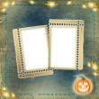 Frame for photo with pumpkin — Stock Photo