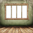 Stock Photo: Old window on the antique wall