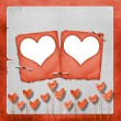 Card for invitation with heart — Foto de Stock
