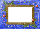Cartão de felicitações com esfera — Fotografia Stock