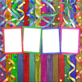 Four multicolored frames — Stock Photo
