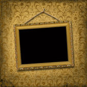 Picture gold frame — Stockfoto