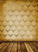 Old room with worn wallpaper — Stock Photo