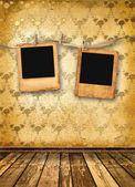 Old alienated slides on the wall — Stock Photo