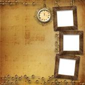 Dantel ile antika saat yüz — Stok fotoğraf
