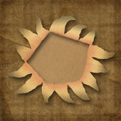 Wrinkled paper with hole — Stock Photo