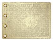 Grunge leaf of aureate paper — Stock Photo