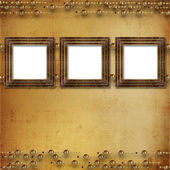 Three gold frames Victorian style — Stock Photo