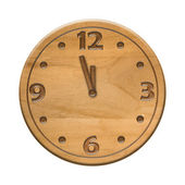 Antique wooden clock face — Stock Photo