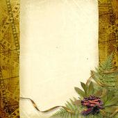 Card for congratulation or invitation — Stock Photo