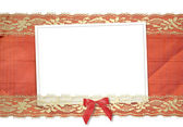 Frame for photos with gold lace — Stock Photo