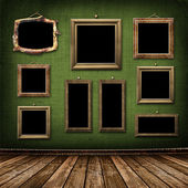 Old gold frames Victorian style — Stock Photo