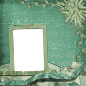 Grunge frame in scrapbooking style — Stock Photo