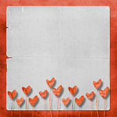 Card for congratulation with heart — Stock Photo