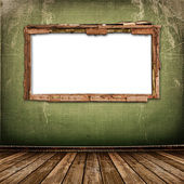 Old window on the antique wall — Fotografia Stock