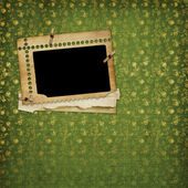 Old paper and grunge frame — Stock Photo