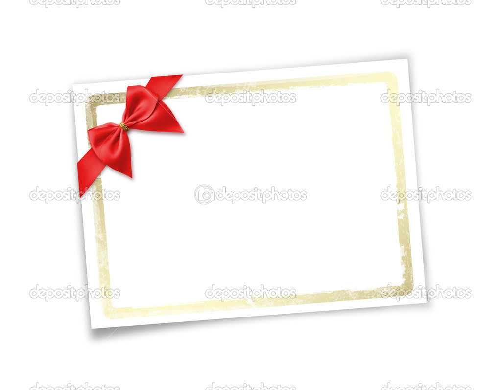 Card for invitation or congratulation to holiday. White isolated background. — Stock Photo #2312411