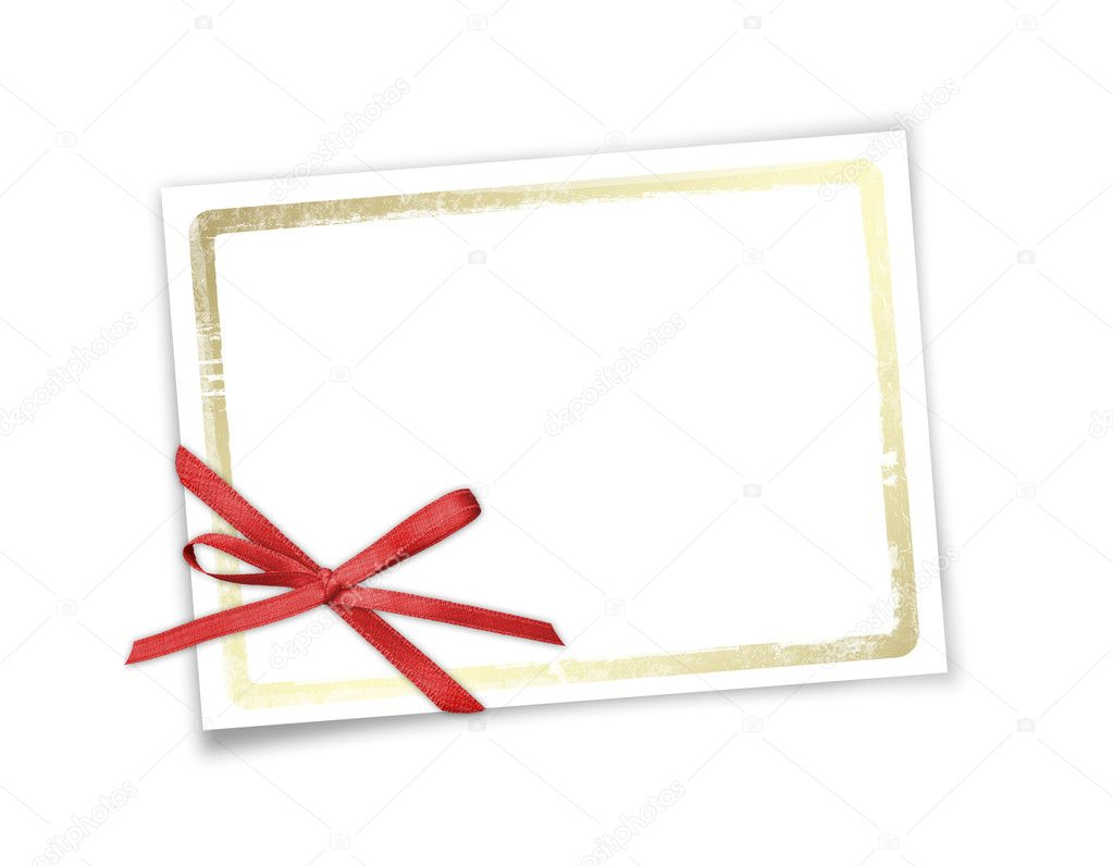 Card for invitation or congratulation to holiday. White isolated background. — Stock Photo #2312818