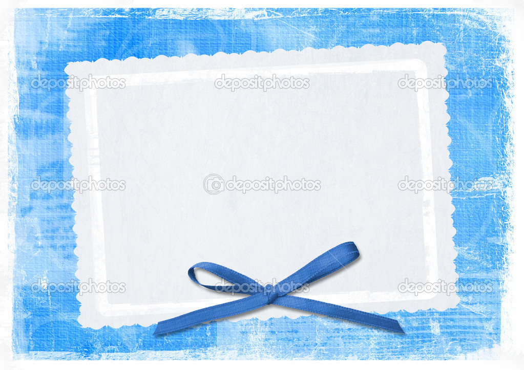 Blue card for greeting in style retro  Stock Photo #2313017