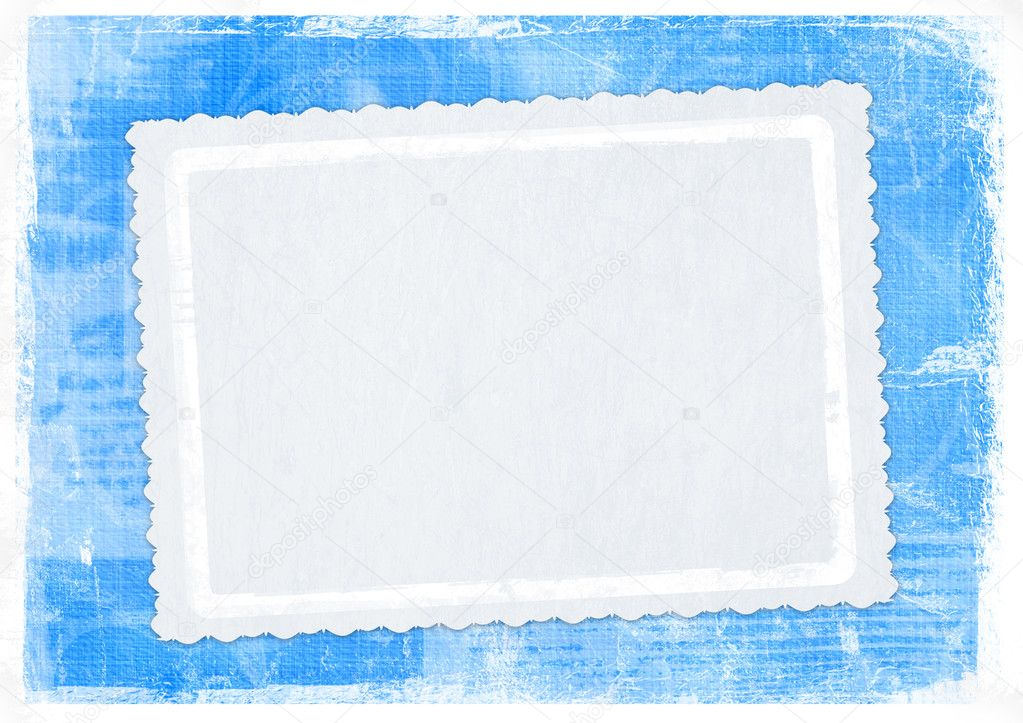 Blue card for greeting in style retro — 图库照片 #2313024