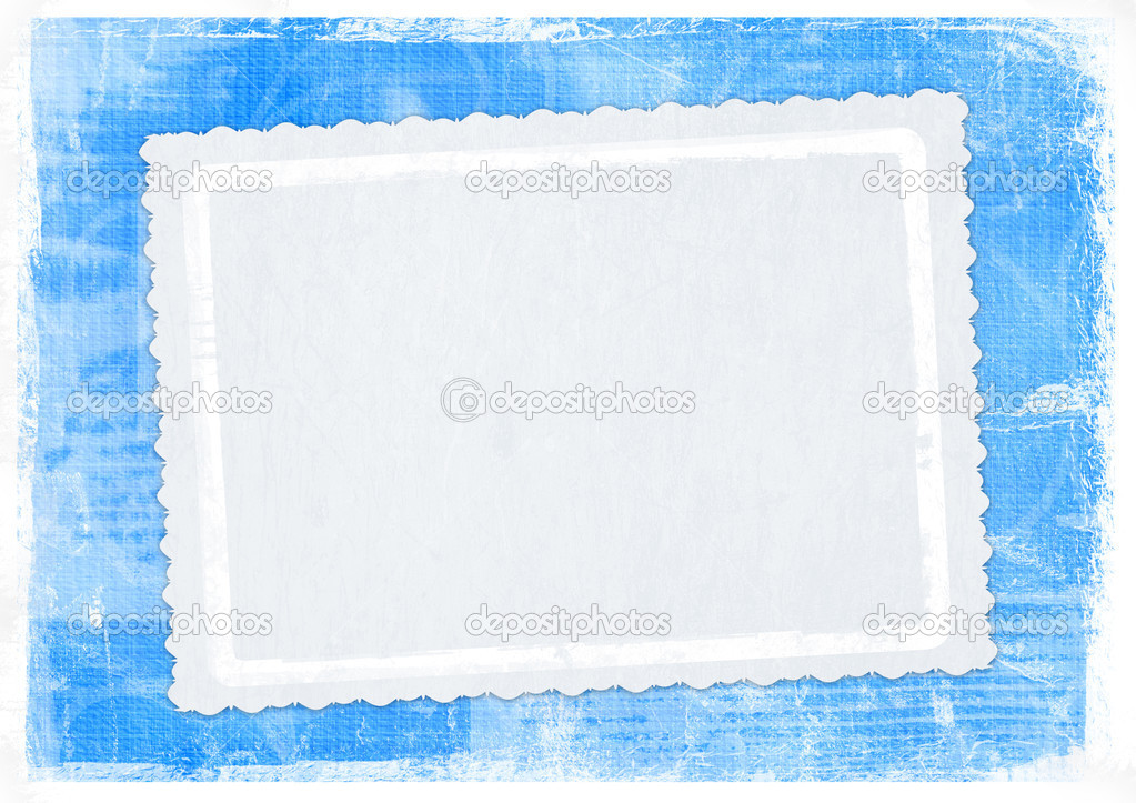 Blue card for greeting in style retro — Lizenzfreies Foto #2313024