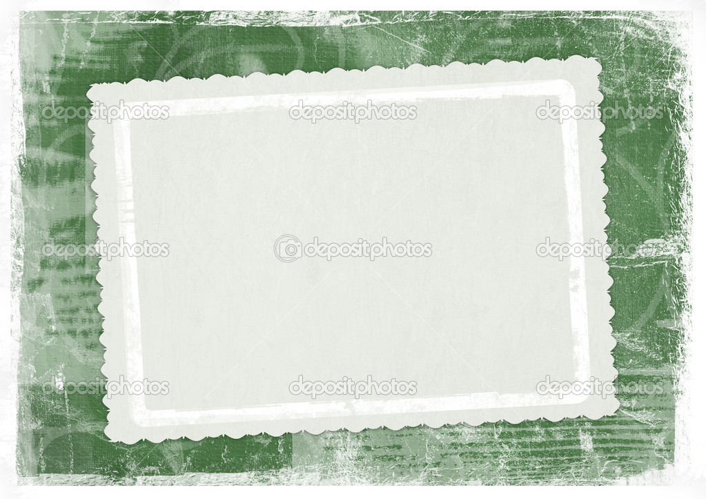Green card for greeting in style retro — Photo #2313049