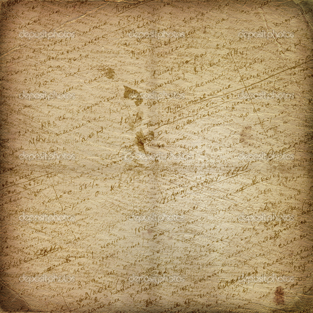 Old manuscript on the alienated paper. Abstract background — Stock Photo #2313584