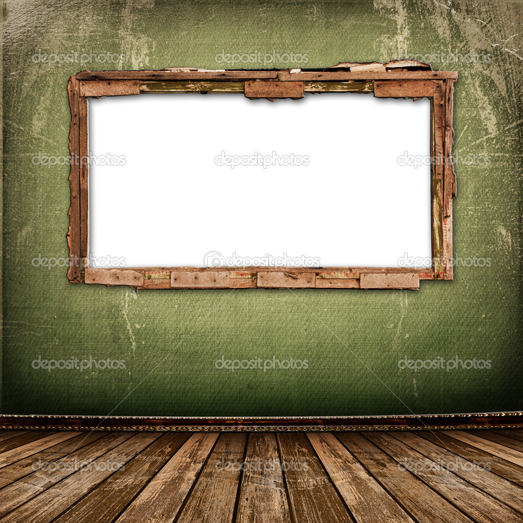 Old window on the antique wall with metal nail — Stock Photo #2319463