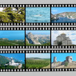 Film with photos of Crimea - Stock Photo