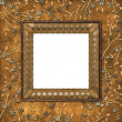 Wooden frame on the leafage — Stock Photo