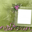 Green abstract background with frame — Stok fotoğraf