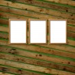 Three  Wooden frameworks — Stock Photo