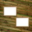 Two Wooden frameworks for portraiture — Stock Photo
