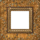 Houten frame op de leafage — Stockfoto