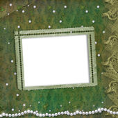 Frame for photo with pearls — Stock Photo