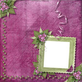 Pink background with frame — Stock Photo