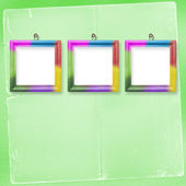 Three multicolored frames for photos — Stock Photo
