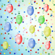 Multicolored background with balloons — Stock Photo #2416448