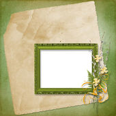 Frame with bunch of willow — Stock Photo