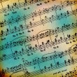 Grunge abstract musical background - Stock Photo