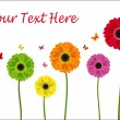 Royalty-Free Stock Imagen vectorial: Colour flowers of gerbera