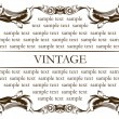 Vector de stock : New frame vintage old
