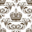 New seamless decor imperial ornament — Imagen vectorial